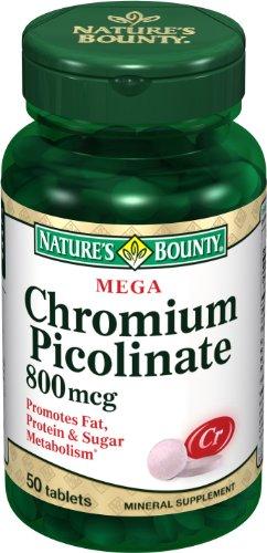 Nature Bounty Mega Chromium Picolinate 800 mcg., 50 comprimés