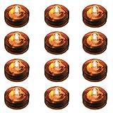 LumaBase 68712 12 Count Submersible LED Lights, Orange