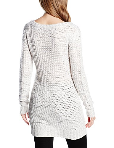 Urban Classics Ladies Long Wideneck Sweater, Suéter para Mujer, Azul Marino, X-Large Blanco (offwhite 555)