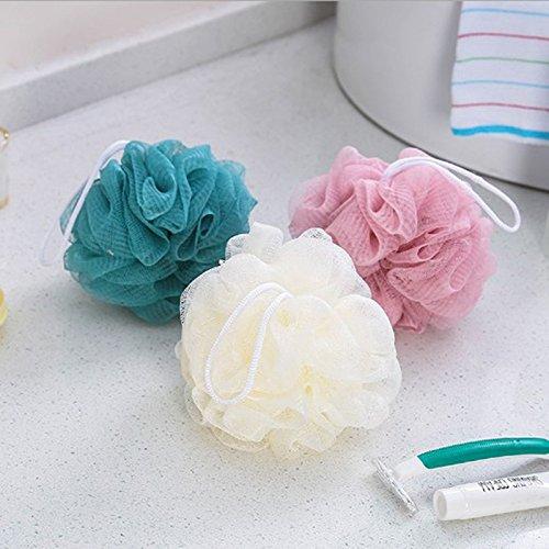 Mesh Shower - 3pcs Pack Bath Ball Flower Body Cleaning Scrubber Mesh Shower Wash Sponge Bathroom Pc887244 - Bath Pink/black Sponge Chair Soap Grey/pink Travel Holder Shoes Rack Loofah Organize