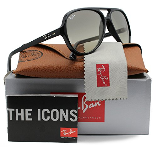 Ray-Ban RB4125 Cats 5000 Sunglasses Shiny Black w/Grey Gradient (601/32) 4125 60132 59mm - Sunglasses Ray Cats Ban 5000