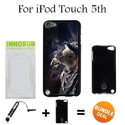 Funny Llama Smoking Out 420 Boyz Custom iPod 5/5th Generation Cases-Black-Plastic,Bundle 2in1 Comes with Custom Case/Universal Stylus Pen by (Ipod 5 Llama Case)