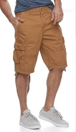 35a4dee23b Amazon.com: Urban Pipeline Mens Max Flex Cargo Shorts (Hits at The Knee)  (Medal Bronze, 33): Clothing