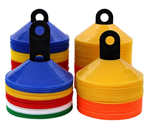 (World Sport Multi Color 50 Disc Cone Set with Carrier)