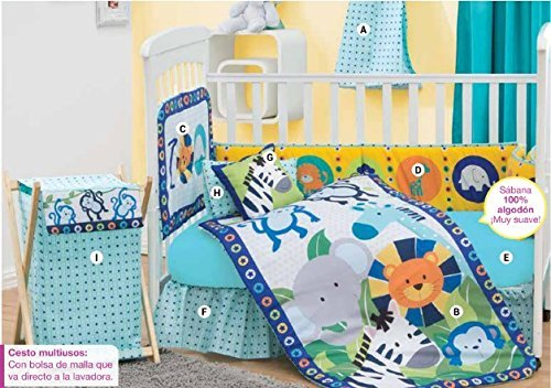 Diego Animal Jungle 5 Piece Crib Bedding (Diego Bedding Set)