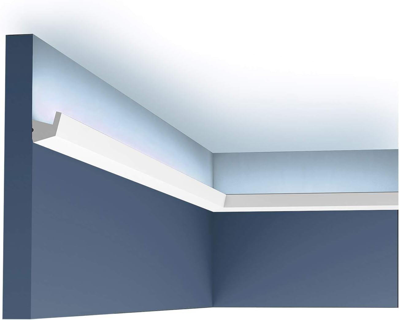 Orac Decor | Flexible Polyurethane Crown Moulding | Primed White | Face 1-3/8in x 78in Long