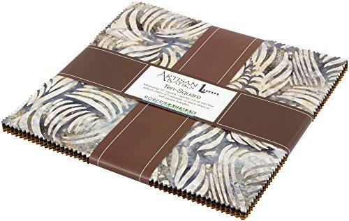 Lunn Studios Artisan Batiks Kalahari 6 Ten Square 42 10-inch Squares Robert Kaufman TEN-518-42 (Square Kalahari)
