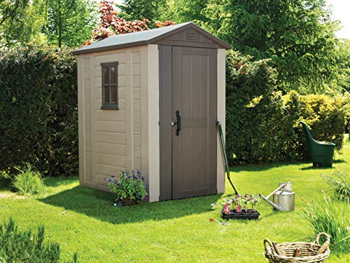 Keter-Factor-Outdoor-Plastic-Garden-Storage-Shed-Beige-4-x-6-ft