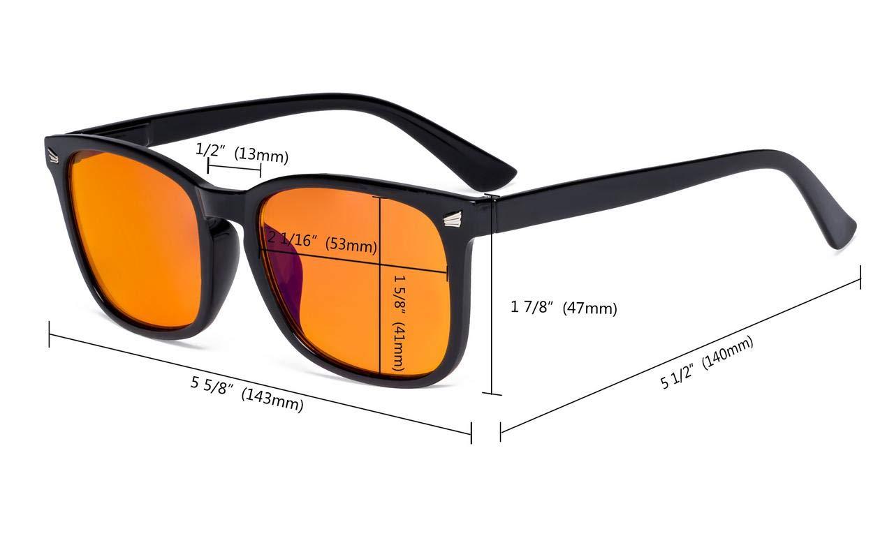 4b06adb104cb Amazon.com: Eyekepper Blue Light Blocking Computer Reading Glasses-Square  Nerd Readers with Orange Lens,Black +1.50: Health & Personal Care