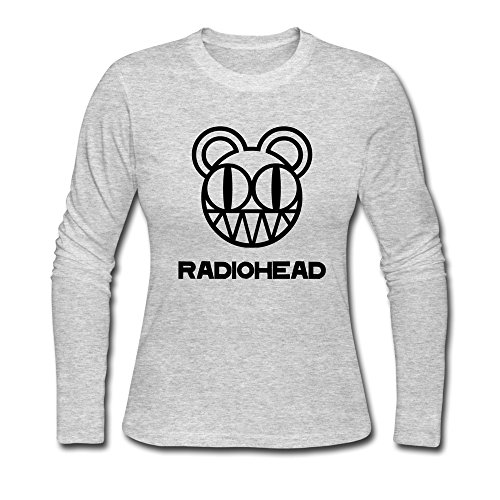 Bamwind Women Radiohead T-Shirt Customized Cool US Size XXL Color Gray (Buddy Holly Merchandise compare prices)