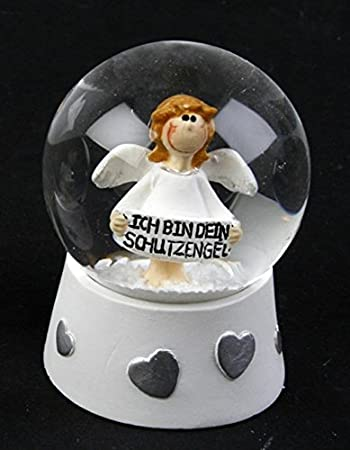 Modell:Herzen Michel Toys Schneekugel Schutzengel wei/ß