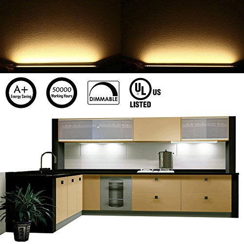 Rigid Kitchen Cabinets: AIBOO LED Under Counter Light Rigid Bar Above Cabinet Plug