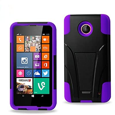 Nokia Lumia 635 Case, Premium Durable Hard&Soft Rugged Shell Hybrid Protective Phone Case Cover with Built in Kickstand?Storm Buy?