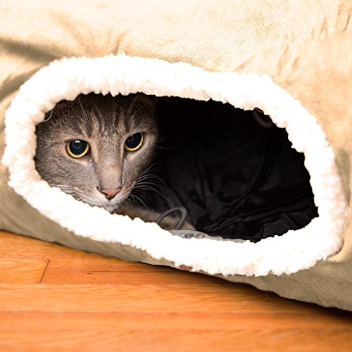 Easyology Premium Cat Tunnel - Interactive Cat Tube Toy with Crinkle Sound - Best Cat Tunnels for Indoor Cats - Fun Kitty Tunnel for Hiding - - Single Tunnel Scale