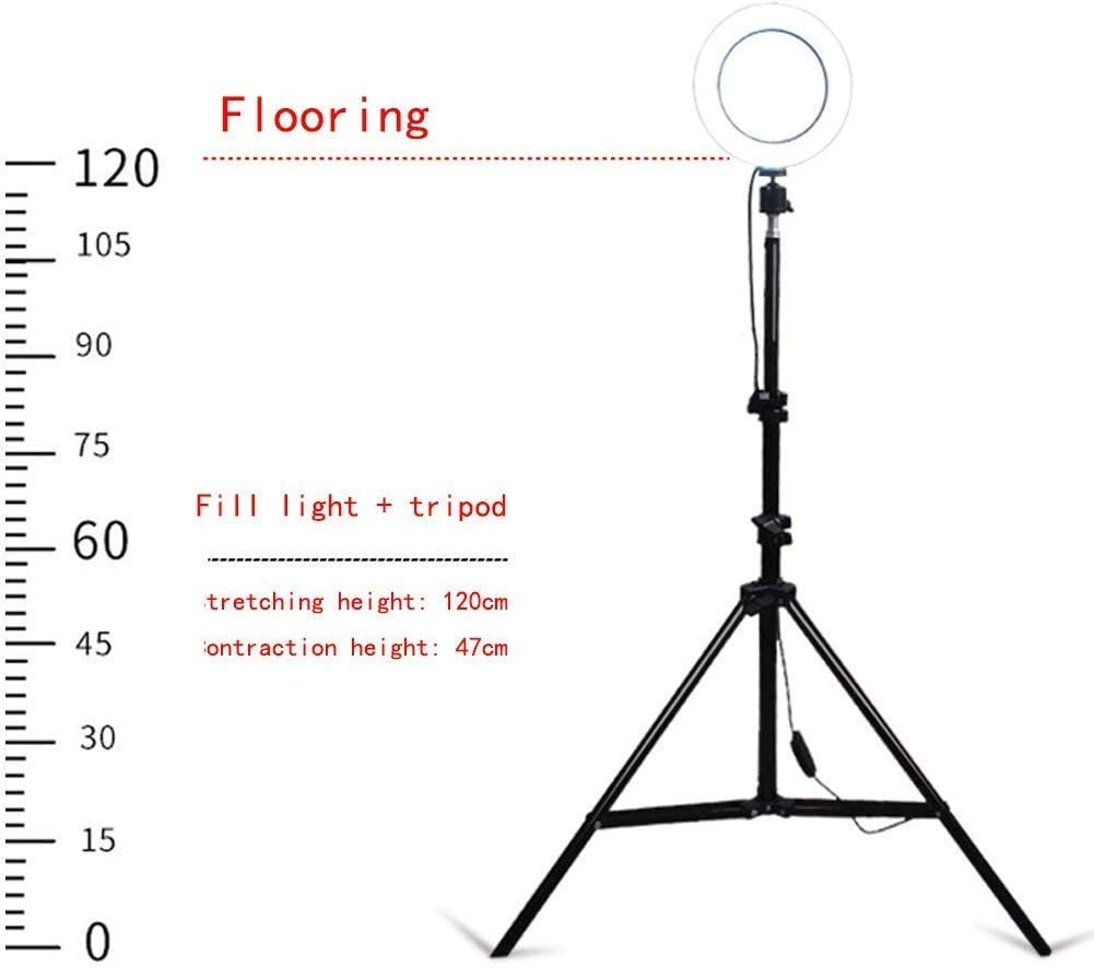 SLM-max LED Floor Ring Fill Light Anchor Beauty Live Mobile Phone Bracket Photography Shooting Professional Makeup-003,D
