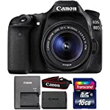 Canon EOS 80D 24.2MP DSLR Camera + 18-55mm Lens + 16GB Memory Card