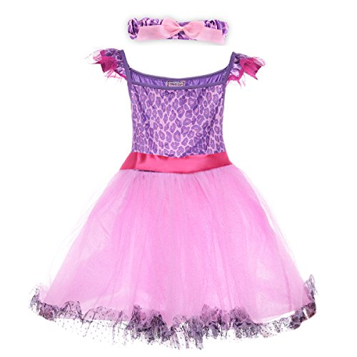 Dance Trends Costumes - HBB Kids Girl's Princess Dress Up Dance Tutu Costume With Headband & Shoes SZ 3-5 (PD06)