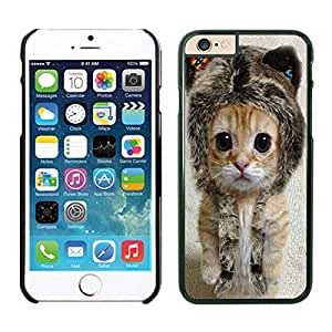 Apple Iphone 6 Case, Personalized Cute Funny Cat Phone Case Cover for Iphone 6 4.7 Inch Screen, Beautiful Black Iphone 6 Hard Shell Cover