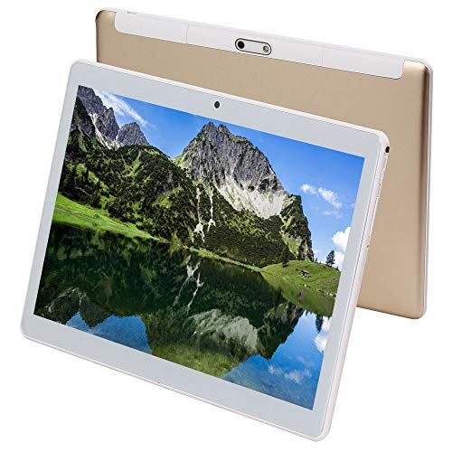 KuBi 10 Inch Tablet Pc Android 7.0 1280×800 IPS Tablets PC Octa Core RAM 4GB ROM 64GB 8MP 3G Dual sim Card Phone Call GPS 7 9 (Gold)