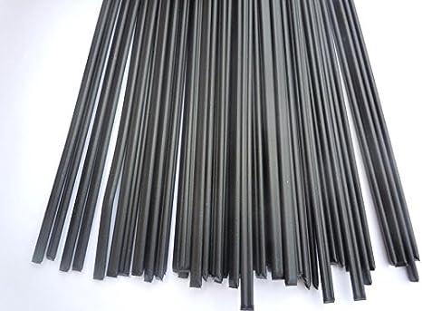 MXBAOHENG Alta calidad 30PCS PP Negro Plástico Varillas de soldadura soldador PP varillas: Amazon.es: Hogar