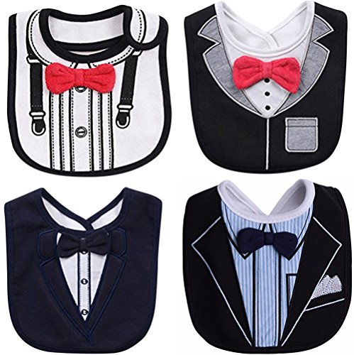 Bow Necktie - FANCYBIBS Baby Toddler Infant Boys Girls Drool Drooling Bibs Bowtie Tuxedo Bow Neck Tie Burp Cloths Unisex Pack (Bow Tie Bibs #2)