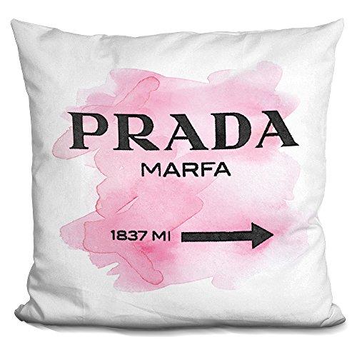 LiLiPi Prada Marfa Pink Decorative Accent Throw Pillow -
