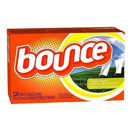 Bounce Fabric Outdoor Fresh - Toallitas para secadora, con suavizante, 120 unidades