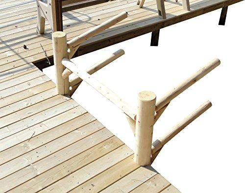 Log Kayak Rack Dock-Mounted 2-place Kayak and SUP Rack Natural (Dry Dock Hitch)