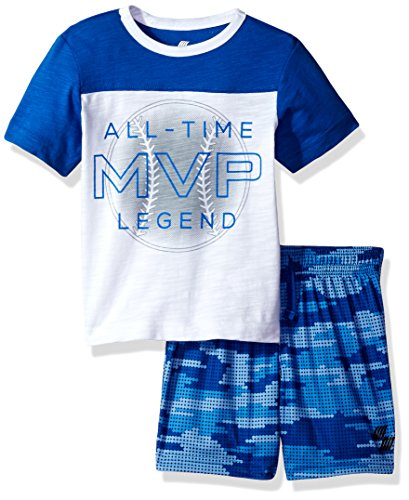 The Childrens Place Baby Boys Active Shorts and Tee Set