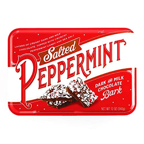 Salted Peppermint Dark and Milk Chocolate Bark | Perfect for Christmas and Holiday Season Treat | Irresistible Handcrafted Holiday Treat | Perfect Holiday and Christmas Gifts | 12 Ounce Each