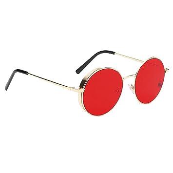 Homyl Gafas de Sol Polarizadas Lentes de Espejo Redondas Protección UV400 para Mujer Hombre Unisex - Estilo 1-rojo: Amazon.es: Deportes y aire libre