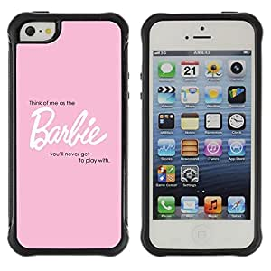 LASTONE PHONE CASE / Suave Silicona Caso Carcasa de Caucho Funda para Apple Iphone 5 / 5S / Babe Girls Toy Doll Text Sexy Quote