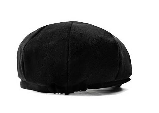 a97680b04f39d 100% Wool Blank 8 Panel Newsboy Cap Hat at Amazon Men's Clothing store:
