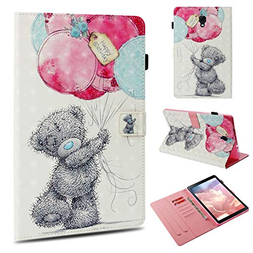 Samsung Galaxy Tab A 10.5 Case,UZER 3D Series Premium PU Leather Shockproof Kick Stand Flip Wallet Case with Card Holder ID Slot Money Pocket Case for Samsung Galaxy Tab A 10.5 Inch 2018(SM-T590/T595) (Poetic Samsung Tab 4 7)
