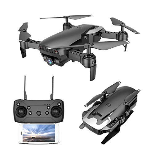 Vehicle 720p (Yezijin Unmanned Aerial Vehicle, X12 Drone 720P Wide Angle Camera WiFi FPV 2.4G One Key Return QuadcopterToy Gift (Black))