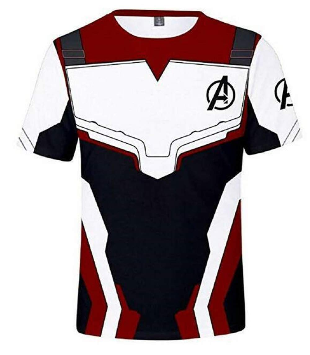 Adult Avenger's Endgame Quantum Realm Hoodie Jacket Costume Cosplay Costume Zipper Pullover Shirts Sweatshirt. (3:T-Shirt, XX-Large)