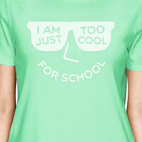365 Printing Unique T shirt School Femme For Manches Cool Mint Too Taille Courtes g0T0nx