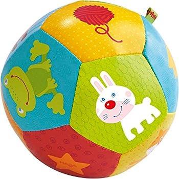 HABA Clutching Toy Rainbow Swirl Plastic Rattlling Ball
