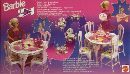 Barbie 2 in 1, Esstisch mit Stühlen