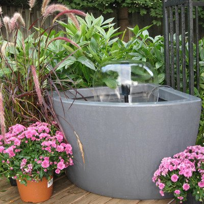 Algreen 35002 Hampton Urban Balcony Deck Pond with 500GPH Pump