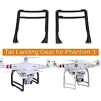 Drone Fans 1 Pair Extended Landing Gear Accessory Tall Landing Gear Skids for DJI Phantom 3 Professional Advanced Standard