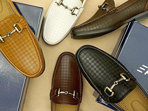 Chaussures Pour Hommes Easystrider Mocassins - Matériau Alligator De Première Qualité - Doublure En Faux Cuir - Boucle Élégante En Métal Argenté - Chaussure De Travail Parfaite Pour Les Hommes Ou Mocassin À Enfiler Occasionnel Pour Les Vêtements De Tous Les Jours