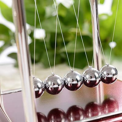 Vincent & July Classic Plastic Frame Newtons Cradle Balance Balls Science Psychology Puzzle Desk Toy Medium Home Decoration Executive Gift -Geometry/Z Type: Toys & Games