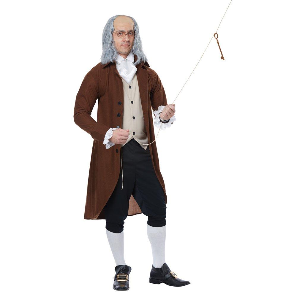 Adult Benjamin Franklin Fancy Dress Costume Small