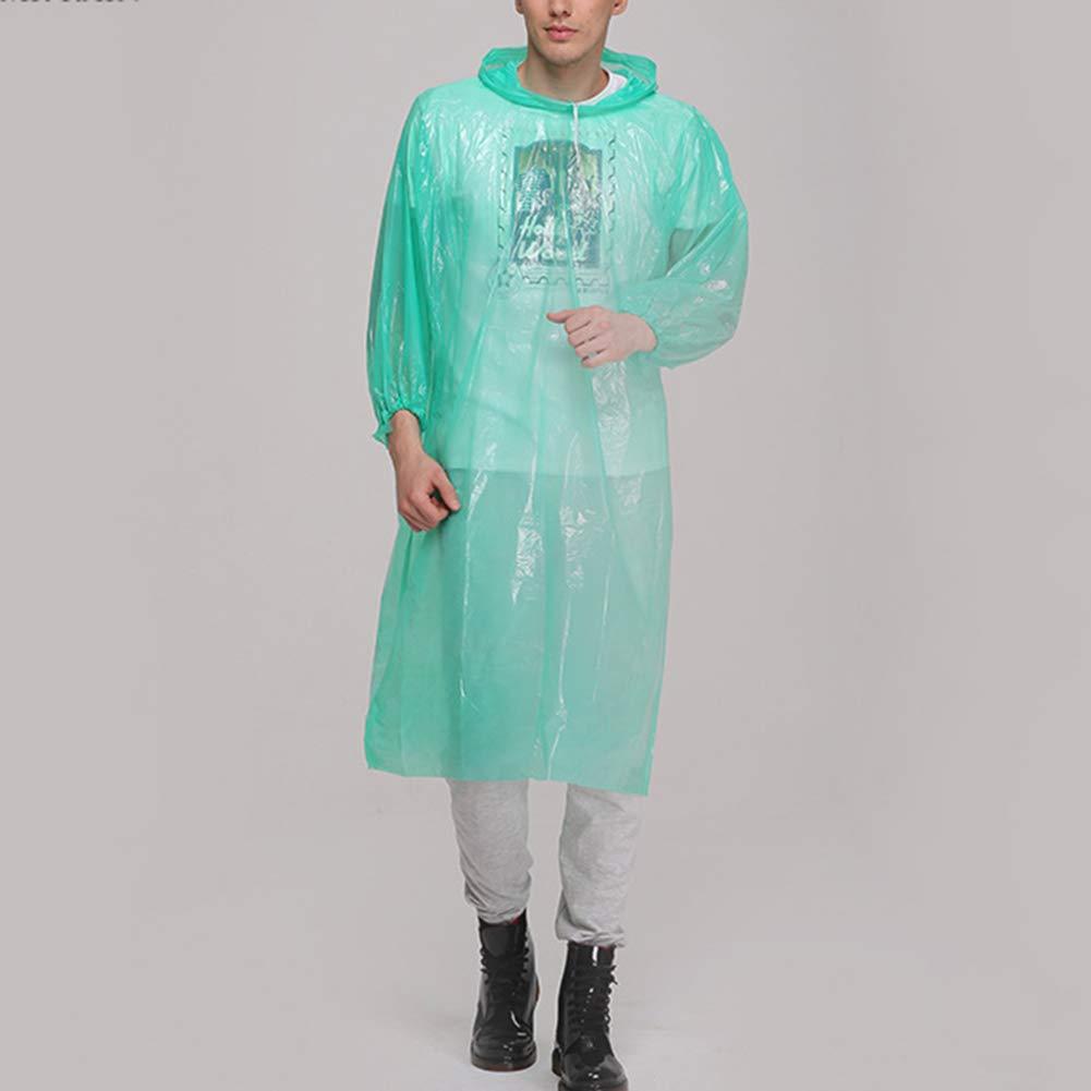 Lubier Portable Adult Rain Poncho Impermeable desechable con ...
