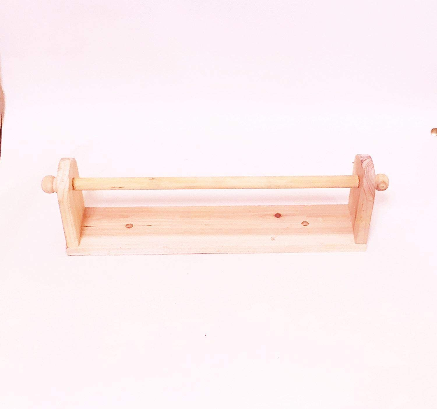 Paper Towl Holder Wall Mounted 30x6.3x10cm Pine Wood Guaranteed Quality