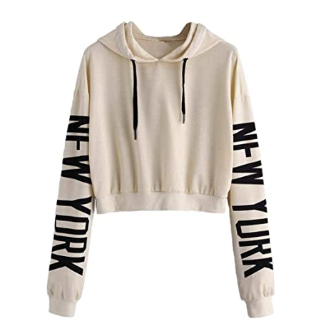 Clearance!Youngh New Women Print Letters Solid Sweatshirt Loose Long Sleeve Hoodie Sweatshirt Casual Fashion Sweatshirt Pullover: Amazon.com: Grocery ...