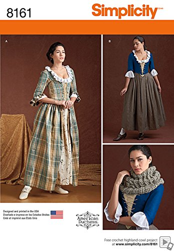 - Simplicity Creative Patterns 8161 Misses' 18th Century Costumes, R5 (14-16-18-20-22)