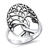 Tree of Life Branches Fashion Ring New .925 Sterling Silver Band Size 9