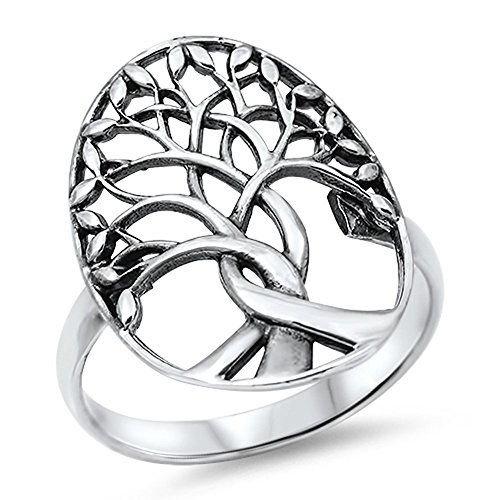 Tree of Life Branches Fashion Ring New .925 Sterling Silver Band Size 11 (Ring Silver Tree Sterling)